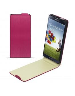 Moozy silky Magic Diamond Shine effect Unscratchable Neo Slim Flip Case Samsung i9500 Galaxy S4 vertical case cover Pink Tln