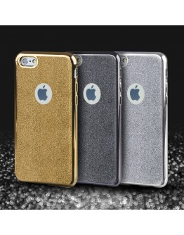 iPhone 6s Case, iPhone 6 Case silicone Glitter Grey - Moozy® Ultra Thin Flexible Soft Transparent TPU Silicone Bling Cover with Detachable Glitter
