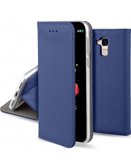 Huawei Honor 5C / Honor 7 Lite case Flip cover Dark blue - Moozy® Smart Magnetic Flip case with folding stand and silicone phone holder