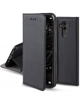 Huawei Mate 10 Pro case Flip cover Black - Moozy® Smart Magnetic Flip case with folding stand and silicone phone holder