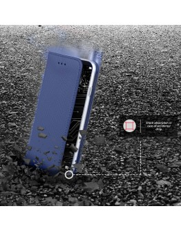 Huawei Mate 10 Pro case Flip cover Dark blue - Moozy® Smart Magnetic Flip case with folding stand and silicone phone holder