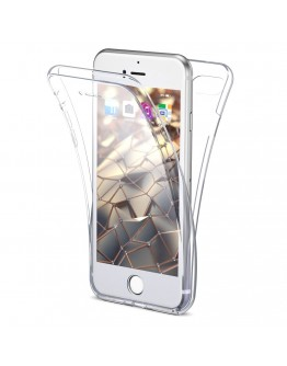 360 Degree iPhone 6s Case, 360 Degree iPhone 6 Case by Moozy® Full body Slim Clear Transparent TPU Silicone Gel Cover
