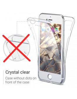 360 Degree iPhone 8 Plus Case, 360 Degree iPhone 7 Plus Case by Moozy® Full body Slim Clear Transparent TPU Silicone Gel Cover