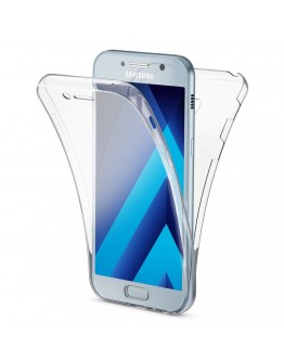 360 Degree Samsung A5 2017 Case by Moozy® Full body Slim Clear Transparent TPU Samsung Galaxy A5 2017 Silicone Gel Cover