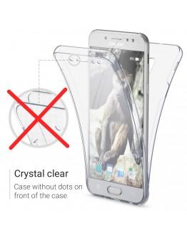 360 Degree Samsung J3 2017 Case by Moozy® Full body Slim Clear Transparent TPU Samsung Galaxy J3 2017 Silicone Gel Cover