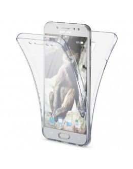 360 Degree Samsung J7 2017 Case by Moozy® Full body Slim Clear Transparent TPU Samsung Galaxy J7 2017 Silicone Gel Cover