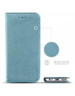 Huawei Mate 10 Lite case Flip cover Turquoise - Moozy® Smart Magnetic Flip case with folding stand and silicone phone holder