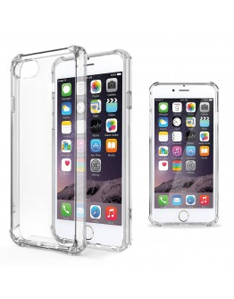 iPhone 6 Case Shockproof Case, iPhone 6s Case Clear Silicone Shockproof Case Cover by Moozy® - Crystal Clear Transparent Silicone Soft TPU Cover