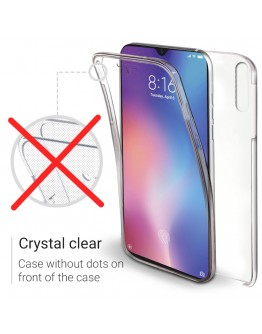Moozy 360 Degree Case for Xiaomi Mi 9 SE - Transparent Full body Cover - Hard PC Back and Soft TPU Silicone Front