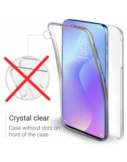 Moozy 360 Degree Case for Xiaomi Mi 9T, Redmi K20 - Transparent Full body Cover - Hard PC Back and Soft TPU Silicone Front