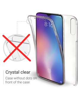 Moozy 360 Degree Case for Xiaomi Mi 9 - Transparent Full body Slim Cover - Hard PC Back and Soft TPU Silicone Front