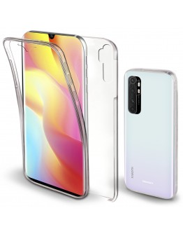Moozy 360 Degree Case for Xiaomi Mi Note 10 Lite - Transparent Full body Cover - Hard PC Back and Soft TPU Silicone Front