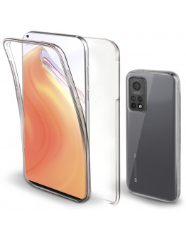 Moozy 360 Degree Case for Xiaomi Mi 10T 5G and Mi 10T Pro 5G - Transparent Full body Slim Cover - Hard PC Back and Soft TPU Silicone Front