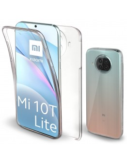 Moozy 360 Degree Case for Xiaomi Mi 10T Lite 5G - Transparent Full body Slim Cover - Hard PC Back and Soft TPU Silicone Front