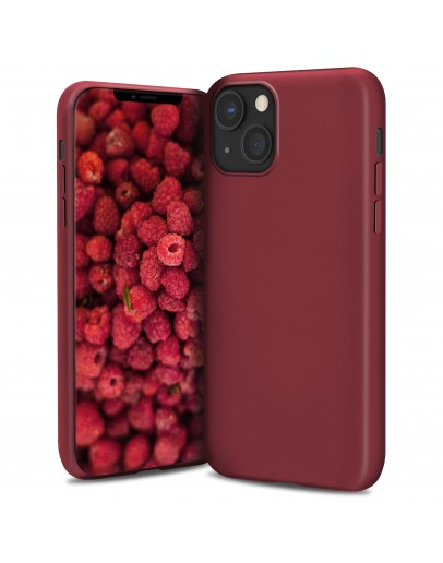 Moozy Lifestyle. Silicone Case for iPhone 13, Vintage Pink - Liquid Silicone Lightweight Cover with Matte Finish and Soft Microfiber Lining, Premium Silicone Case