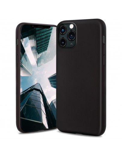 Moozy Lifestyle. Silicone Case for iPhone 13 Pro, Black - Liquid Silicone Lightweight Cover with Matte Finish and Soft Microfiber Lining, Premium Silicone Case