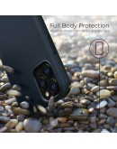 Moozy Lifestyle. Silicone Case for iPhone 13 Pro, Midnight Blue - Liquid Silicone Lightweight Cover with Matte Finish and Soft Microfiber Lining, Premium Silicone Case