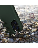 Moozy Lifestyle. Silicone Case for iPhone 13 Pro, Dark Green - Liquid Silicone Lightweight Cover with Matte Finish and Soft Microfiber Lining, Premium Silicone Case