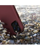 Moozy Lifestyle. Silicone Case for iPhone 13 Pro Max, Vintage Pink - Liquid Silicone Lightweight Cover with Matte Finish and Soft Microfiber Lining, Premium Silicone Case