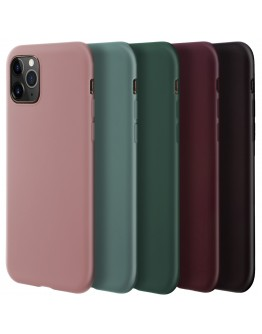 Moozy Minimalist Series Silicone Case for Samsung S8, Wine Red - Matte Finish Slim Soft TPU Cover