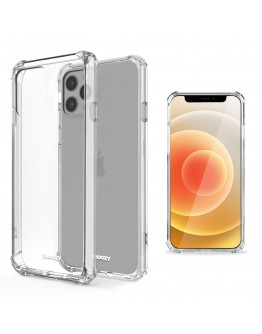 Moozy Shock Proof Silicone Case for iPhone 12 Pro Max - Transparent Crystal Clear Phone Case Soft TPU Cover