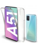 Moozy 360 Degree Case for Samsung A51 - Transparent Full body Slim Cover - Hard PC Back and Soft TPU Silicone Front