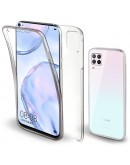 Moozy 360 Degree Case for Huawei P40 Lite - Transparent Full body Slim Cover - Hard PC Back and Soft TPU Silicone Front