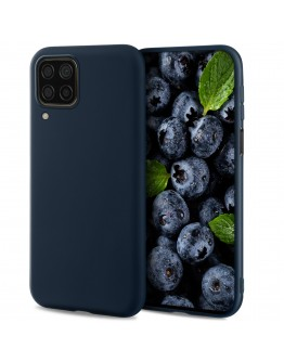 Moozy Lifestyle. Designed for Huawei P40 Lite Case, Midnight Blue - Liquid Silicone Cover with Matte Finish and Soft Microfiber Lining