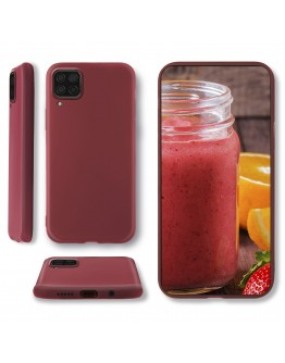 Moozy Lifestyle. Designed for Huawei P40 Lite Case, Vintage Pink - Liquid Silicone Cover with Matte Finish and Soft Microfiber Lining
