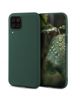 Moozy Lifestyle. Designed for Huawei P40 Lite Case, Dark Green - Liquid Silicone Cover with Matte Finish and Soft Microfiber Lining