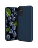 Moozy Lifestyle. Designed for Samsung A52, Samsung A52 5G Case, Midnight Blue - Liquid Silicone Lightweight Cover with Matte Finish and Soft Microfiber Lining, Premium Silicone Case