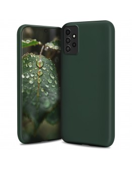 Moozy Lifestyle. Designed for Samsung A52, Samsung A52 5G Case, Dark Green - Liquid Silicone Lightweight Cover with Matte Finish and Soft Microfiber Lining, Premium Silicone Case