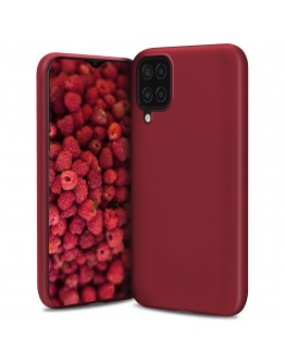 Moozy Lifestyle. Designed for Samsung A12 Case, Vintage Pink - Liquid Silicone Lightweight Cover with Matte Finish and Soft Microfiber Lining, Premium Silicone Case