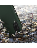 Moozy Lifestyle. Designed for Samsung A12 Case, Dark Green - Liquid Silicone Lightweight Cover with Matte Finish and Soft Microfiber Lining, Premium Silicone Case
