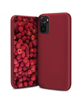 Moozy Lifestyle. Designed for Xiaomi Redmi Note 10, Redmi Note 10S Case, Vintage Pink - Liquid Silicone Lightweight Cover with Matte Finish and Soft Microfiber Lining, Premium Silicone Case