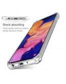 Moozy Shock Proof Silicone Case for Samsung A10e - Transparent Crystal Clear Phone Case Soft TPU Cover