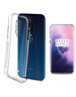 Moozy Frosted Edition Clear Silicone Case for OnePlus 7 Pro - Non-slip Touch Lightweight Transparent Soft TPU Cover