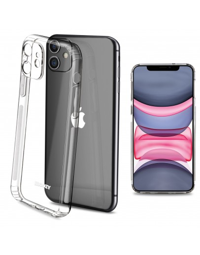 Moozy Frosted Edition Clear Silicone Case for iPhone 11 - Non-slip Touch Lightweight Transparent Soft TPU Cover