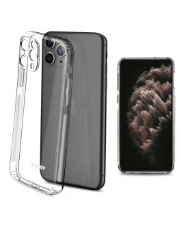 Moozy Frosted Edition Clear Silicone Case for iPhone 11 Pro Max - Non-slip Touch Lightweight Transparent Soft TPU Cover