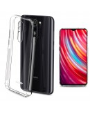 Moozy Frosted Edition Clear Silicone Case for Xiaomi Redmi Note 8 Pro - Non-slip Touch Lightweight Transparent Soft TPU Cover