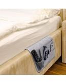 VILSTO Felt Bedside Storage Caddy, Bunk Bed Organiser Storage, Hanging Organiser, Bedside Organiser, Remote Control Holder, Magazine Holder, Tablet Holder for Bed, Armchair Caddy, Light Grey