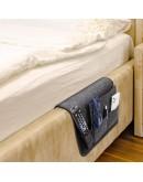VILSTO Felt Bedside Storage Caddy, Bunk Bed Organiser Storage, Hanging Organiser, Bedside Organiser, Remote Control Holder, Magazine Holder, Tablet Holder for Bed, Armchair Caddy, Dark Grey